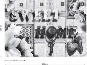 Fototapeta GLIX - Sweet Home Vintage Chic + lepidlo ZADARMO Vliesová tapeta  - 416x290 cm