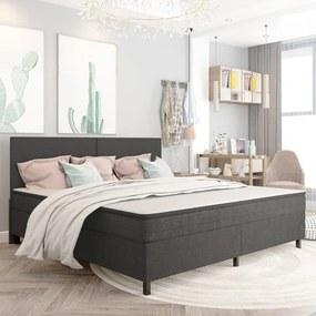 vidaXL Rám na boxspring posteľ, sivý, látka 200x200 cm