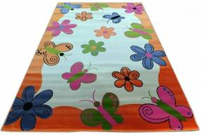 Detský koberec Motýle oranžový, Velikosti 133x190cm