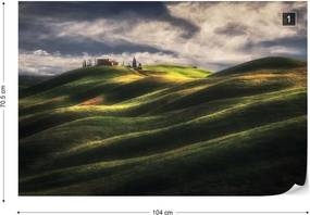 Fototapeta GLIX - Tuscany Sweet Hills + lepidlo ZADARMO Vliesová tapeta  - 104x70 cm