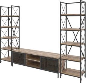 Set TV komody a 2 skriniek v dekore borovicového dreva Maxim