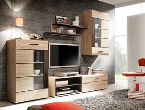 SOLO moderná obývacia zostava, dub sonoma