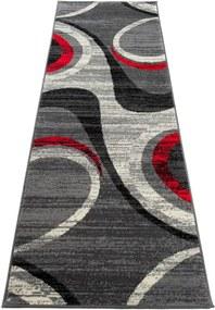 Kusový koberec PP Rex šedý atyp, Velikosti 80x200cm