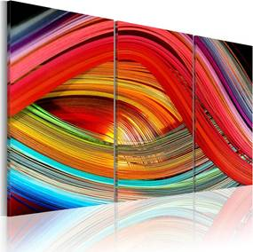 Obraz na plátne Bimago - Barevná duha 90x60 cm