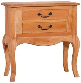 vidaXL Príručný stolík 60x30x60 cm, mahagónový masív