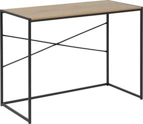 Bighome - Písací stôl SEAFORD 100 cm, svetlohnedá