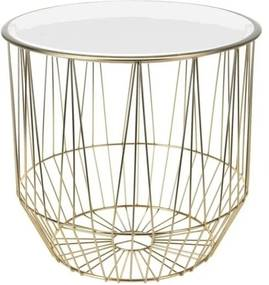 Sconto Prístavný stolík FORST biela/zlatá