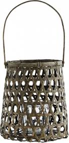 MADAM STOLTZ Bambusový lampáš natural Grey Bamboo