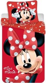 Jerry Fabrics Detské obliečky Minnie Big Red micro, 140 x 200 cm, 70 x 90 cm
