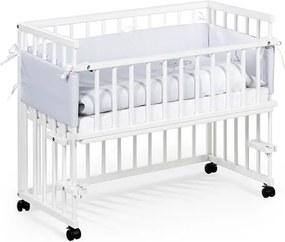 KL Biela postieľka k posteli piccolo due