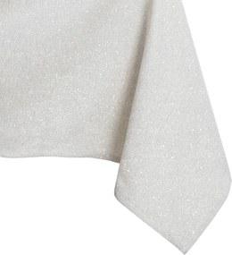 Krémový obrus DecoKing Sparkle Cream, 140 × 280 cm