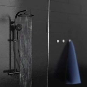 SCHÜTTE Dažďová sprchová súprava MADURA FRESH matná čierna
