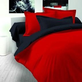 Kvalitex Saténové obliečky Luxury Collection červená / čierna, 220 x 200 cm, 2 ks 70 x 90 cm