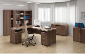 Kancelárska skriňa Mirelli A+, 800 x 400 x 1200 mm, orech