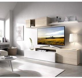 Obývacia stena Elle glossy white, oak