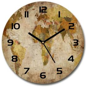 Sklenené hodiny na stenu Polytická mapa pl_zso_30_f_33159238