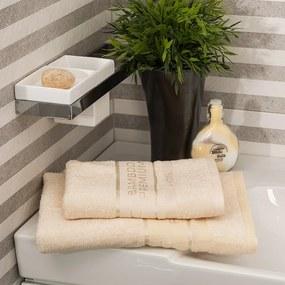 4Home Sada Bamboo Premium osuška a uterák krémová, 70 x 140 cm, 50 x 100 cm