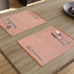 Goldea bavlnené rolovacie prestieranie na stôl - sýto oranžové - 2ks 33 x 48 cm