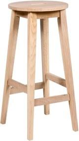 Matne lakovaná barová stolička z dubového dreva Rowico Frigg
