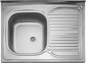 Kuchynský nerezový drez Sinks CLP-D 800 M matný ľavý