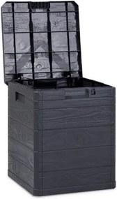 Úložný box na podušky Woody tmavosivá, 90 l