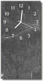 Sklenené hodiny vertikálne  Šedá kamenný múr