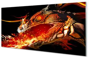 Nástenný panel ohnivého draka 140x70cm