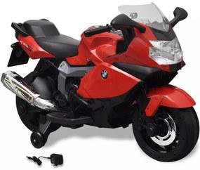 vidaXL Elektrická motorka pre deti, červená BMW 283 6 V