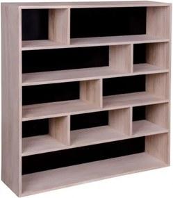Knihovna PISA přírodní dřevo pavlovnie, černá záda House Nordic 3404940051