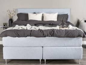 Alvdalen 180 boxspring manželská posteľ svetlo sivá čelo Alvik
