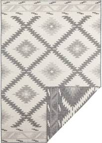Sivo-krémový vonkajší koberec Bougari Malibu, 150 x 80 cm