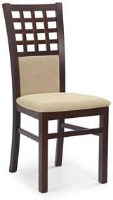 HALMAR Gerard 3 jedálenská stolička tmavý orech / béžová