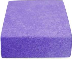 Froté plachta fialová 180x200 cm Gramáž (hustota vlákna): Lux (190 g/m2)