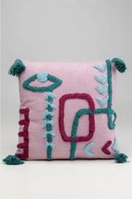 Ružový dekoratívny vankúš Kare Design Abstract Art, 45 x 45 cm