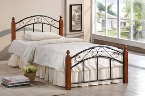 VerDesign, CRETA 8077 kovová jednolôžková posteľ 90x200