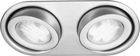 Philips Massive Philips Massive 59602/48/10 - Kúpeľňové podhľadové svietidlo MONO 2xGX53/9W/230V hliník M1127