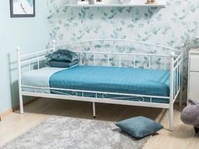 Eshopist Kovová posteľ ANKARA 90 x 200 cm biela