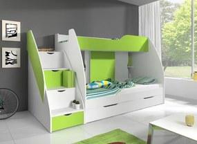 Mango zelená 200x120 poschodová posteľ