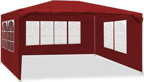 Záhradný altánok 3x4m červený SH014ČE Dekorhome