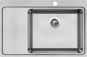 Kuchynský nerezový drez Sinks BLOCK 780 V kartáčovaný pravý