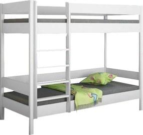 LU Diego Pred poschodová posteľ 140x70 Farba: Biela