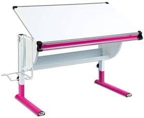 Inter Link Detský rastúci písací stôl Matts (biela / ružová), biela / ružová (100205228)