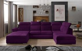 Rohová sedačka v tvare U Estonia, fialová Velvet