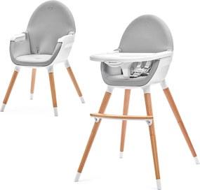 KINDERKRAFT Detská jedálenská stolička Fini – Grey