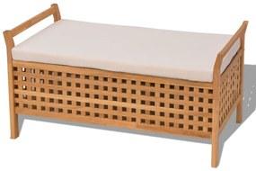 Úložná lavica, masívne orechové drevo, 93x49x47 cm