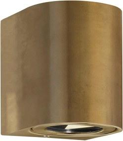CANTO 2 |  dizajnová vonkajšia nástenná lampa IP44 Farba: Mosadz