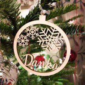 Vianočná guľa na stromček s menom