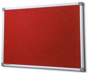 Textilná tabuľa SICO 150 x 100 cm červená