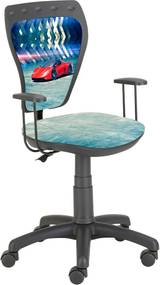 Stolička Ministyle čierna s červeným autom