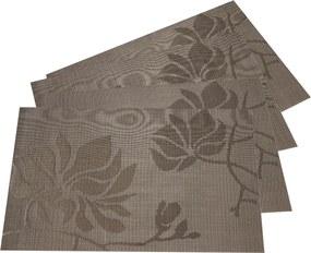 JAHU Prestieranie Listy béžová, 30 x 45 cm, sada 4 ks
